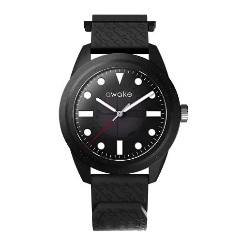 AWAKE ELT11 - Reloj solar para hombre, fabricado a partir de red de pesca reciclada, impermeable, 50 m, marca francesa, solo 29 gramos
