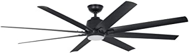 Home Decorators Collection Kensgrove 72 in. LED Indoor/Outdoor Matte Black Ceiling Fan with Light and Remote Control