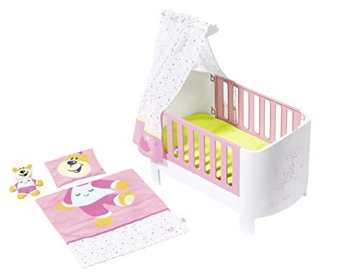 BABY born Sleepwell-Bett für 43cm Puppe - Leicht für Kleine Hände, Kreatives Spiel fördert Empathie & Soziale Fähigkeiten, für Kleinkinder ab 3 Jahren - Inklusive Baldachin, Bettzeug & mehr