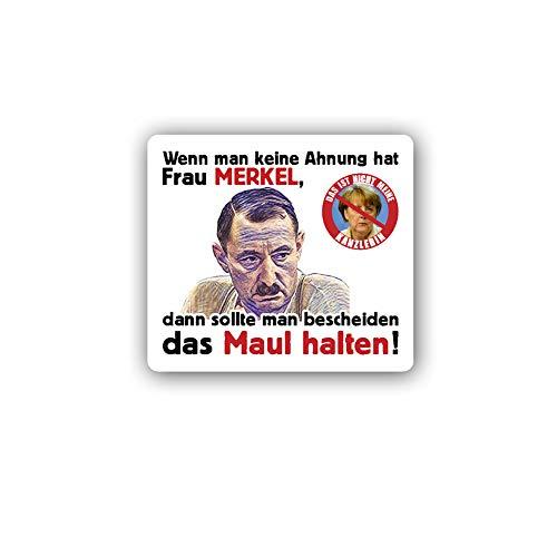 Aufkleber/Sticker Alfred Tetzlaff Merkel Maul halten Protest Demo 6x7cm A3911