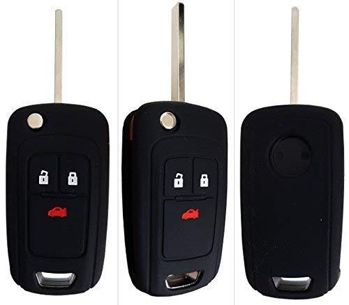 CK+ Opel Auto-Schlüssel Hülle Key Cover Case Etui Silikon für Adam Cascada Mokka X Astra Corsa Insignia Meriva Zafira - Schwarz