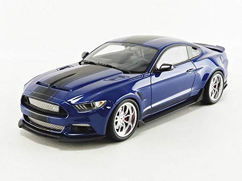 GT Spirit Ford Mustang Shelby GT350 Widebody Deep Impact Blue with Black Stripes Limited Edition to 999 Pieces Worldwide 1/18 Model Car GT238