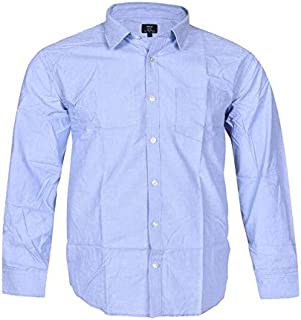 ESTILO Cotton Shirt Men Dark Blue