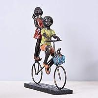 自転車の飾り、リビングルームの寝室の装飾、美しい子供の贈り物、飾るためのかわいい女の子の飾りに乗って創造的な小さな女の子,A