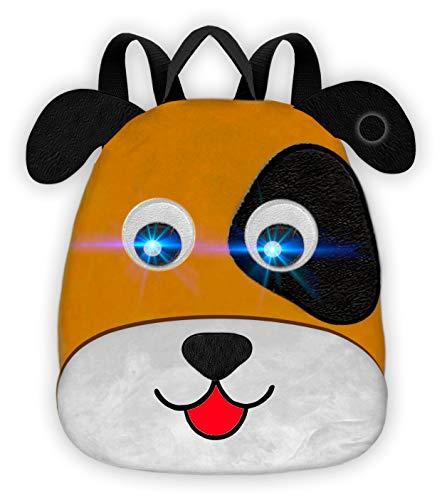 Toy Bags rugzak The Farm hond met licht en geluid rugzak voor kinderen, 30 cm, bruin