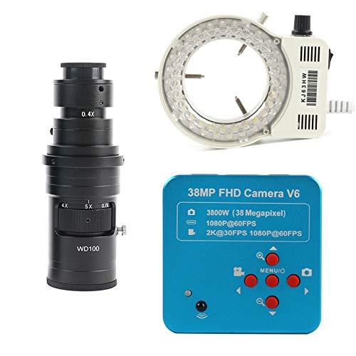 GYW-YW Lente Full HD 1080P 60FPS 2K 3800W 38MP HDMI USB Electronal Electronic Digital Video Microscope Fotocamera per la Riparazione del PCB della CPU del Telefono (Color : LED with 200x)