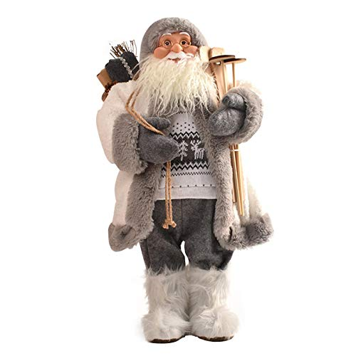Clevoers Bambola di Babbo Natale, 45 cm Ornamento per Bambola di Babbo Natale, Bambola di Babbo Natale Ornamenti Natalizi, Bambole di Pezza Babbo Natale Natale Decorazione
