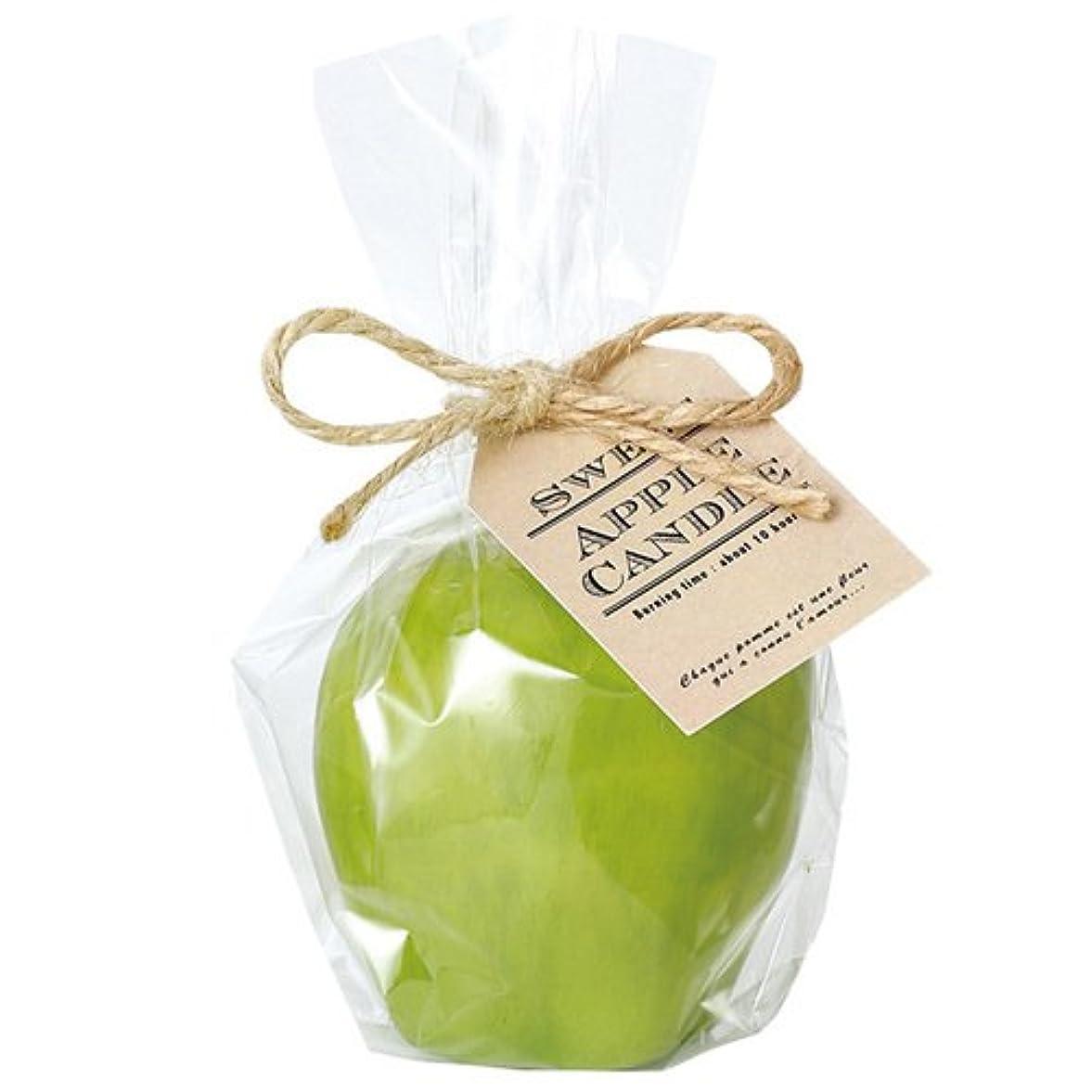 目覚める三角形デザートカメヤマキャンドルハウス スイートアップルキャンドル グリーン アップルの香りつき