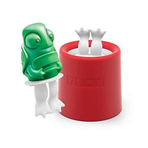 Zoku Eisformen Ice Pop Schildkröte 45ml in grün, Kunststoff, 28x28x12 cm