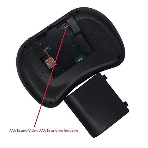 Zoe home 7 Color retroiluminada i8 2.4GHz Mini Teclado inalámbrico Inglés Ruso Air Mouse con Pantalla táctil de Control Remoto de Android TV Box (Axis Body : Spanish, Color : AAA Battery)