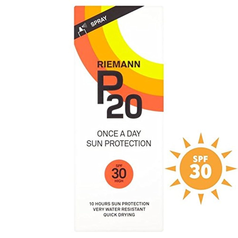 各シャッフルホールRiemann P20 SPF30 1 Day/10 Hour Protection 200ml (Pack of 6) - リーマン20 30 1日/ 10時間の保護200ミリリットル x6 [並行輸入品]