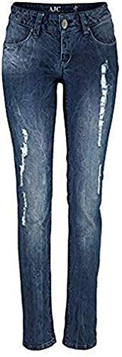 AJC Jeans Röhre Destroyed Damen Blue Used Gr. 34