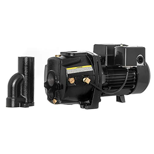 RainBro 3/4 HP Cast Iron Convertible jet well pump, Deep Well Pump with Ejector Kit, Model# CCW075