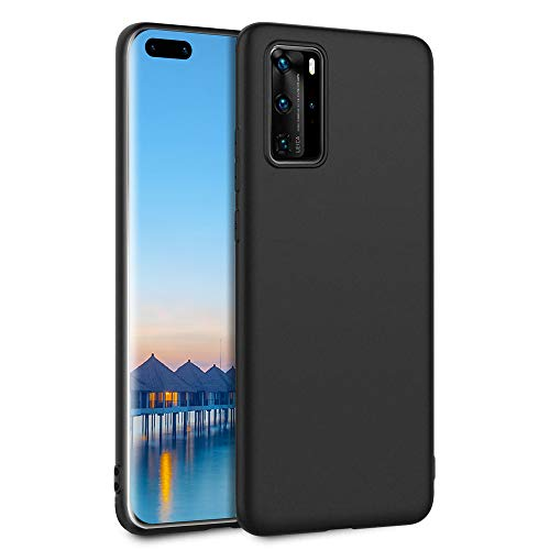 Agedate Hülle für Huawei P40 Pro, Premium Soft TPU Anti-Scratch und Stoßfestes Silikon Schutzhülle für Huawei P40 Pro 6,58 Zoll - Mattschwarz