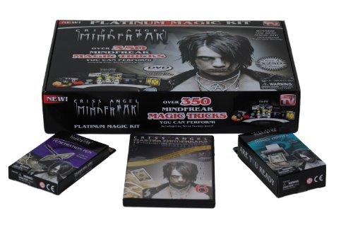 Criss Angel Mindfreak Platinum Magic Kit with Over 350 Magic Tricks & Instructional DVD + Master Mindfreaks Volume 6 DVD + Penetration Pen + Money Printer
