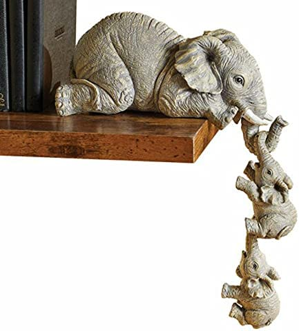 Elephant It is very popular Sitter Hand-Painted Resin Figurines Ranking TOP5 and Two Mother 3pcs