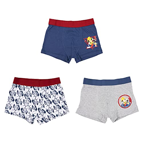 United Labels Feuerwehrmann Sam - Boxershorts Jungen 3er Pack, Kinder Unterhose Unterwäsche (Numeric_110)