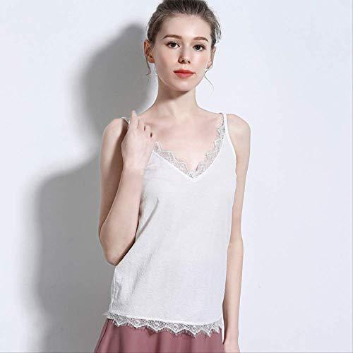 Zomer vrouwelijk kant hennep katoen V-hals Wild hemdje Bottoming Shirt