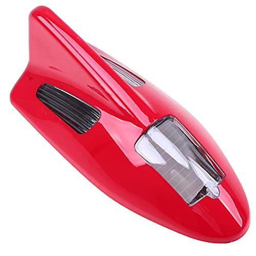 HFDDF Antena Universal del Coche, energía de energía Solar arilas de la energía Advertencia de la Cola de la Cola de la Aleta Gris/Blanco/Negro/Dorado/Rojo/Azul decoración,Rojo