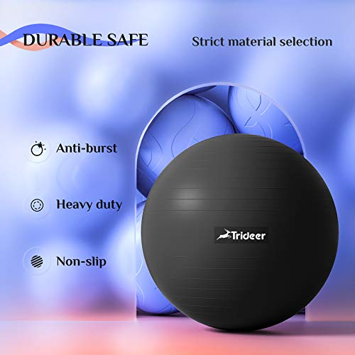 Trideer Exercise Ball (45-85cm) Extra Thick Yoga Ball