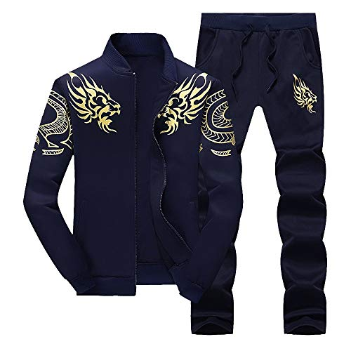 LoveLeiter MäNner Herbst Winter Verdicken Sweatshirt Top Hosen Sets Sport Anzug Trainingsanzug Herren Academy Tracksuit Jogginganzug Man Sportanzug Freizeitanzug Hausanzug