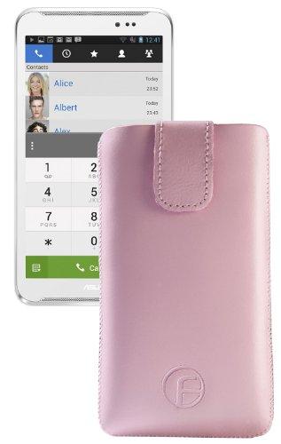 Original Favory ® Etui Tasche für / Asus Fonepad Note 6 / Leder Etui Handytasche Ledertasche Schutzhülle Hülle Hülle *Lasche mit Rückzugfunktion* In Rosa