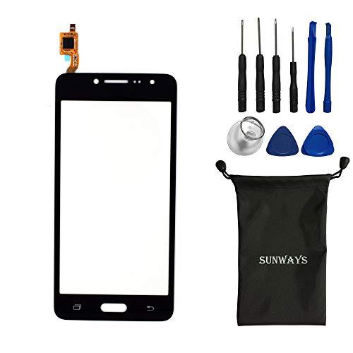 sunways New Touch Screen Digitizer Glass for Samsung Galaxy J2 Prime 2016 SM-G532 G532(Black)