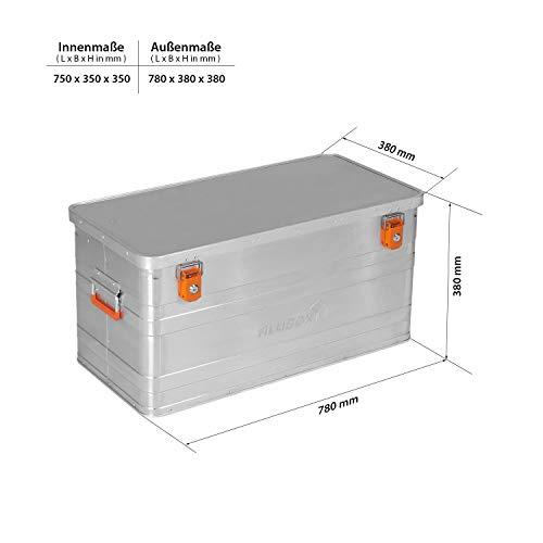 ALUBOX B90 - Aluminium Transportbox 90 Liter, abschließbar - 6