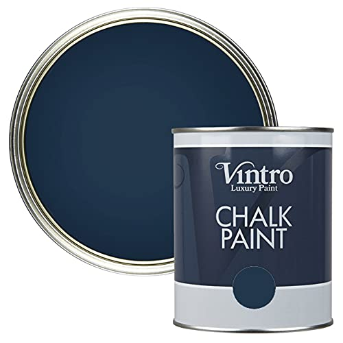 Vintro Paint   Chalk Paint   Nightfall (blacky/Blue)   1L   Furniture Paint...