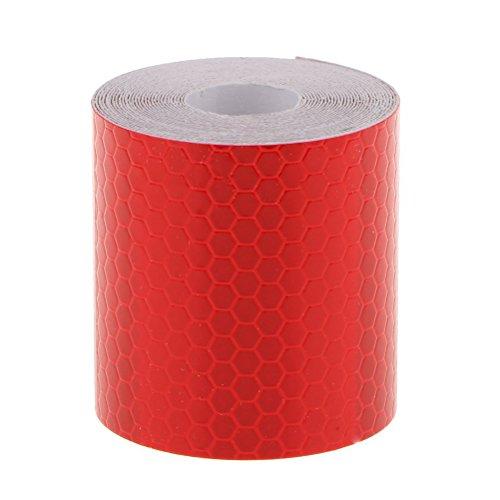 Rojo OULII Cinta Reflectante Adhesiva Pegatina 3M