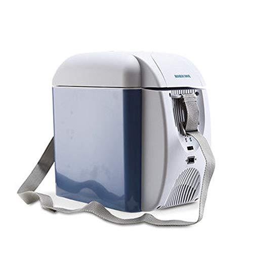 JOMSK 7L Enfriador y Calentador Nevera, Nevera portátil de Coches, Viajes, Picnic al Aire Libre, Camping Refrigerador Electrico (Color : Blue, Size : 32 * 18 * 30cm)
