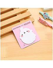 Weigeng - 20 hojas por paquete de notas adhesivas con diseño de conejo kawaii, color rosa
