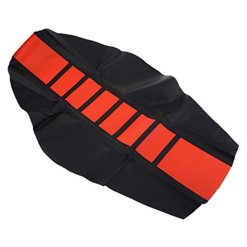 D DOLITY 1 Stück Motorrad Sitzbezug Motorradfahrer Sitzbezug Schutz weiche Anti-Rutsch-Motorrad-Sitzbezug - Orange