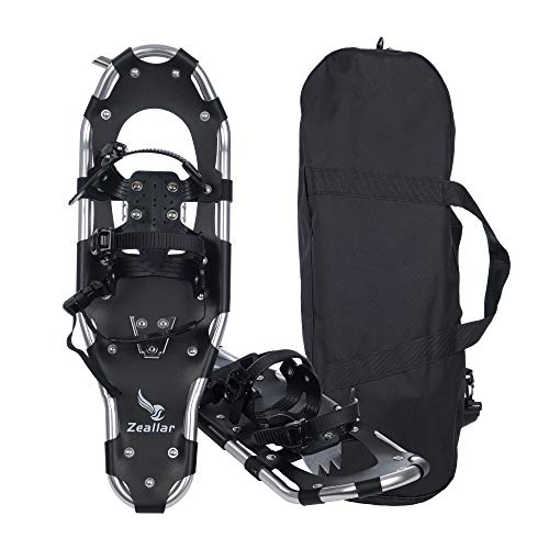 Zeallar Snow Shoes for Men Women Girls Boys, Aluminum Terrain Snowshoes with Carrying Tote Bag, 30 Inches