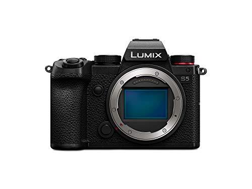Panasonic LUMIX DC-S5E-K Systemkamera (24 MP, 4K, Dual I.S., Touchscreen, OLED-Sucher, Staub-/Spritzwasserschutz) schwarz