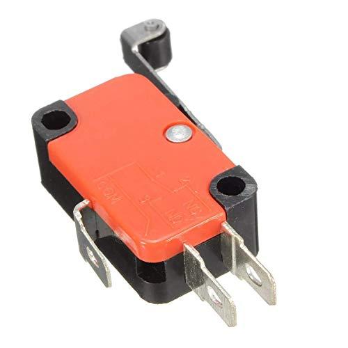WYJBD LKYHYQ 10pcs Micro 3pins Grenze Langrollenhebel Kontaktschalter SPDT AC125~250V 15A Motorrad Zubehör Moto