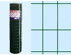 H cm 80 Rete elettrosaldata plasticata Stars rotolo 25 metri maglia mm 50x75 filo 2,2 mm