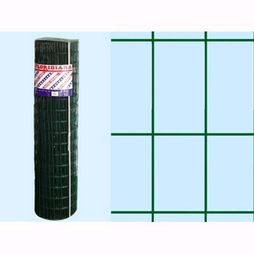 Rete Recinzione Plastificata Verde Floridiana 25 mt - H.200 cm - maglia 75x50 mm