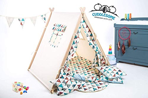 Teepee tent playhouse for kids by Cuddlesome