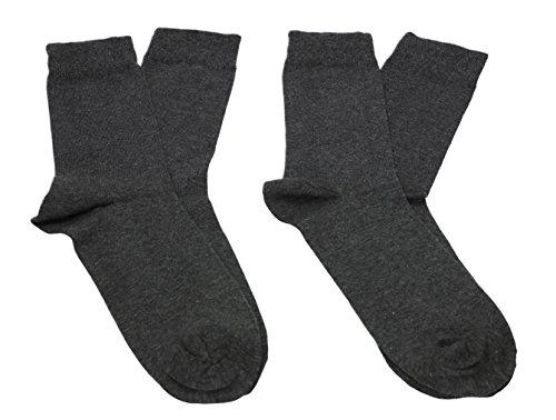 Betz 2 Paar Herren Socken ohne Gummib& Relax EXQUISIT Berufssocken Arbeitssocken Anzugsocken Größe: 43-46 Farbe anthrazit