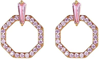 925 Sterling Sliver Rose Gold Plated Cute Hoop Earrings for Wedding, Party or Anniversary