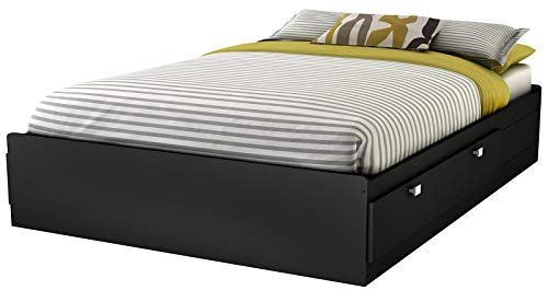 Big Sale South Shore Spark Full Mates Bed, Pure Black