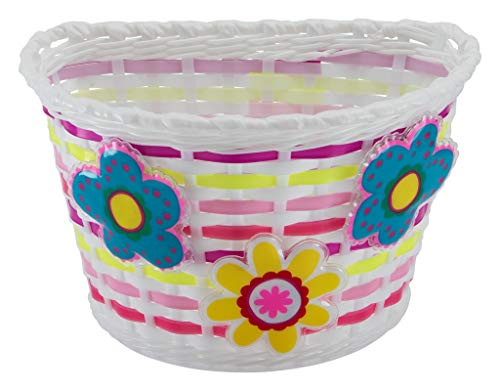 Schwinn Girls Bicycle Basket, Light-up Flowers