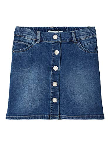 NAME IT Girl Jeansrock A-Form 134Medium Blue Denim