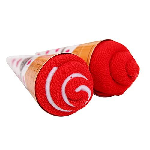 laoonl Toallas de baño, juego de toallas, 1 toalla, forma de torta,...