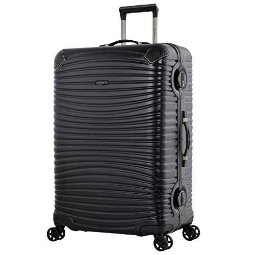 Eminent Gold Suitcase Jetstream 76 cm 106 L Aluminium Frame Extra Corner Protection Double TSA Locks Black