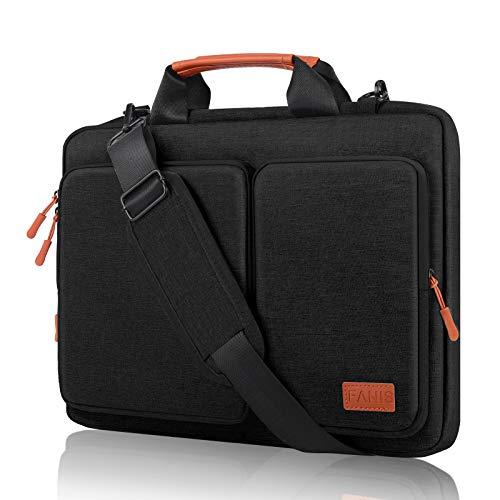 FANIS - Maletín con Funda para portátil de 14 Pulgadas, Bandolera Impermeable y a Prueba de Golpes, Bandolera de Negocios Compatible con MacBook Pro 13.3, Bolsa Protectora con asa