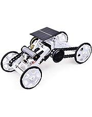 KwuLee DIY 4WD Climbing Car Assembly Robot Kits Panel Solar y Batería Robots Doble Modo Juguete Vehículos Eléctricos Modelo Stem Juguetes Experimento Científico para Niños Adolescentes