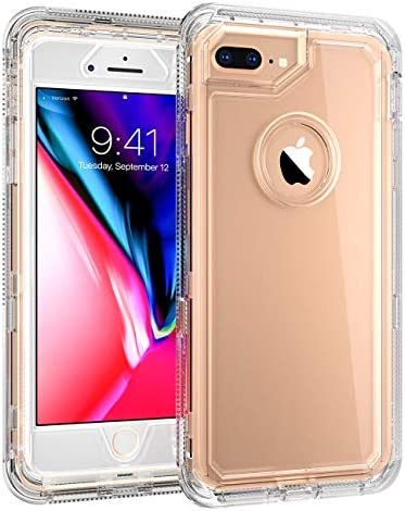 iPhone 8 Plus Heavy Duty Case by MXX 3 in 1 Layers Rugged Rubber Shockproof Protection Case product image