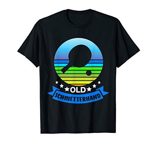 Tischtennis Sprüche Lustig Ping Pong Schläger Design T-Shirt